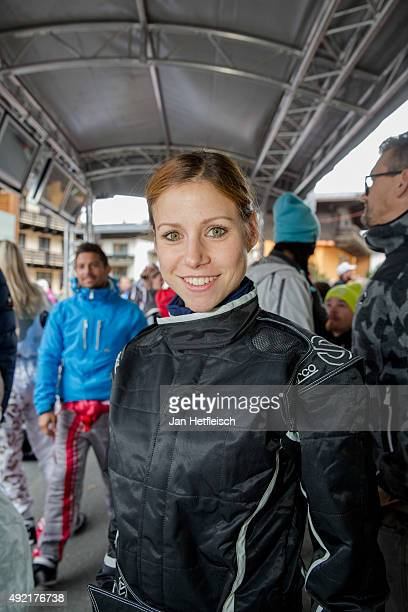 Katrin Hess poses for a picture during the Alpin Juwel Cart Trophy 2015 on October 10 2015 in SaalbachHinterglemm Austria