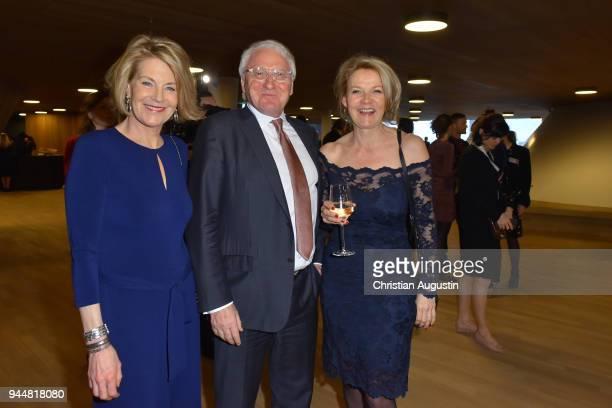 Katrin Hinrichs Aust, Claus Richter and Vvonne von Schacht attend the Nannen Award 2018 at Elbphilharmonie on April 11, 2018 in Hamburg, Germany.