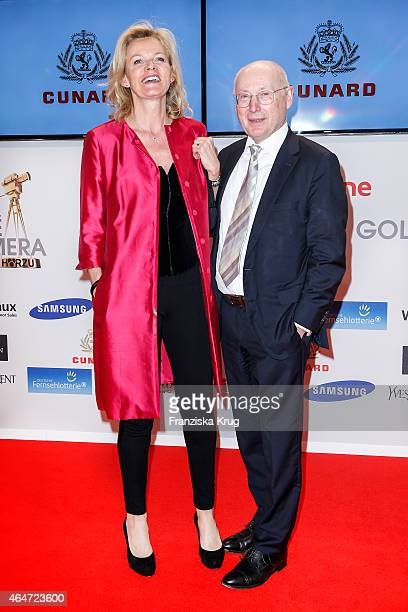 Katrin Hinrichs-Aust and Stefan Aust attend the Goldene Kamera 2015 on February 27, 2015 in Hamburg, Germany.