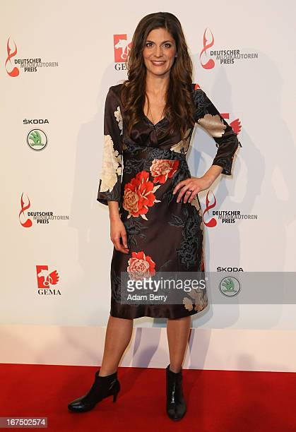 Katrin Katty Salie arrives for the Deutscher Musikautorenpreis 2013 ceremony at the Ritz Carlton hotel on April 25 2013 in Berlin Germany The prize...