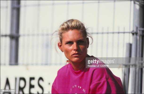Katrin Krabbe Women's European Champion in 100 and 4x100 meters