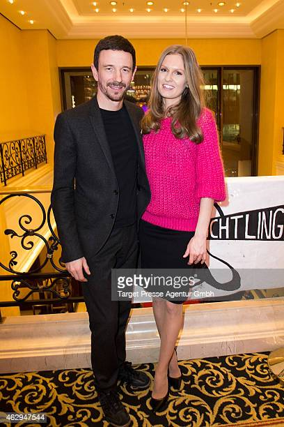 Katrin Kraus and Oliver Berben attend the Medienboard BerlinBrandenburg Reception at Ritz Carlton on February 7 2015 in Berlin Germany
