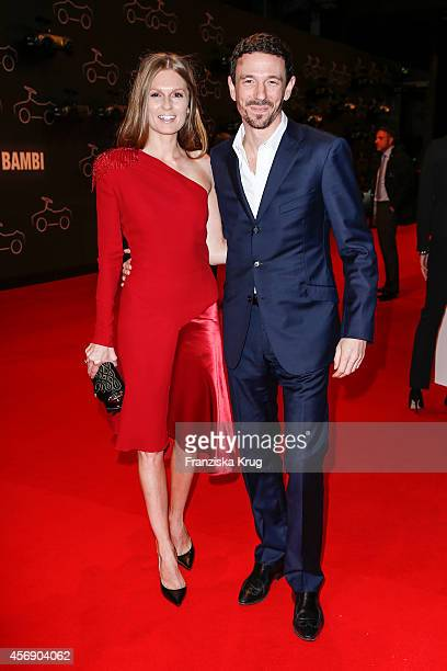 Katrin Kraus and Oliver Berben attend the Tribute To Bambi 2014 on September 25 2014 in Berlin Germany