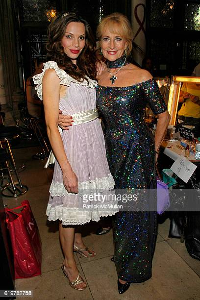 Katrin Lampe and Dagmar Koller attend Life Ball 2007 at the Meridien Hotel on May 26 2007 in Vienna Austria