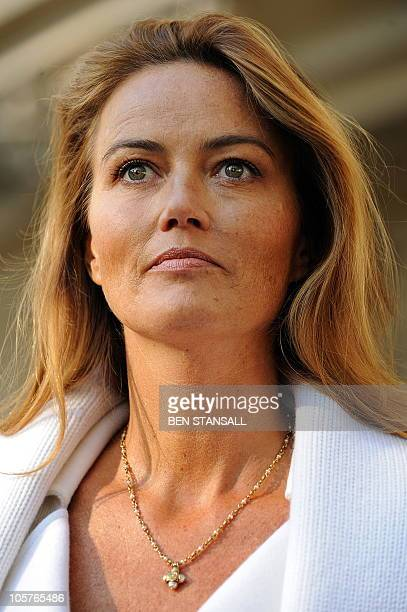 Katrin Radmacher leaves the Supreme Court in central London on October 20 2010 Britain's highest court ruled in favour of one of Europe's richest...