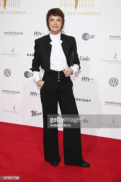 Katrin Sass arrives for the Lola - German Film Award 2013 at Friedrichstadt-Palast on April 26, 2013 in Berlin, Germany.