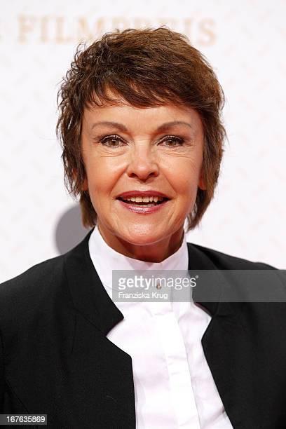 Katrin Sass attends at the Lola German Film Award 2013 at Friedrichstadt-Palast on April 26, 2013 in Berlin, Germany.
