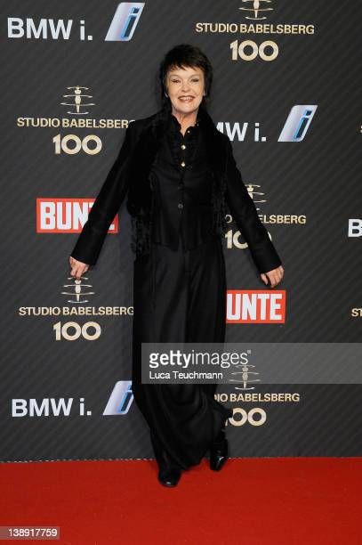 Katrin Sass attends the Babelsberg 100th Anniversary Party during day five of the 62nd Berlin International Film Festival at the Station on February...