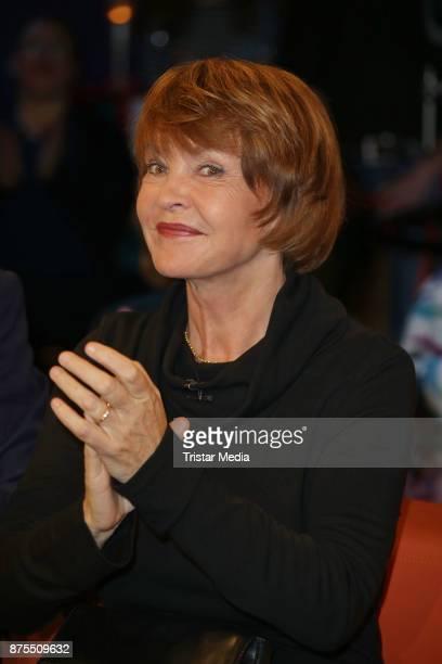 Katrin Sass attends the NDR Talk Show on November 17, 2017 in Hamburg, Germany.
