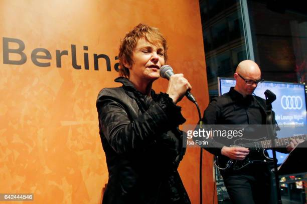 Katrin Sass performs at the Berlinale Lounge Night during the 67th Berlinale International Film Festival on February 17 2017 in Berlin Germany