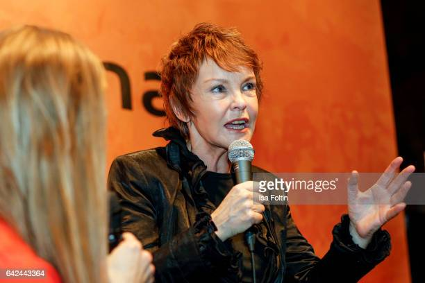 Katrin Sass talks with Caro Matzko at the Berlinale Lounge Night during the 67th Berlinale International Film Festival on February 17, 2017 in...