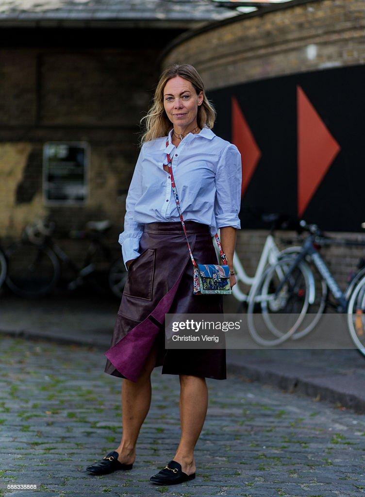 Street Style Day 1 - Copenhagen Fashion Week SS17 : News Photo