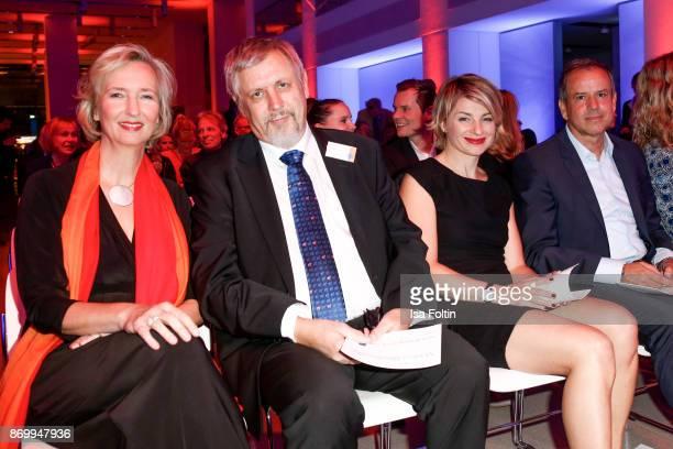 Katrin Weidemann with her husband Markus Weidemann German presenter Sabine Heinrich and Andreas Cichowicz during the 19th Media Award by...