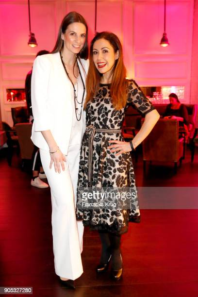 Katrin Wrobel and Anastasia Zampounidis during the Bunte New Faces Night at Grace Hotel Zoo on January 15 2018 in Berlin Germany