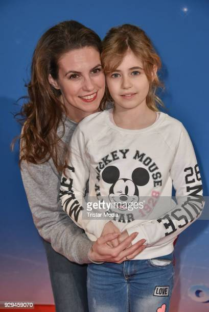 Katrin Wrobel and daughter Luisa Wrobel attend the Disney on Ice premiere 'Fantastische Abenteuer' at Velodrom on March 8 2018 in Berlin Germany