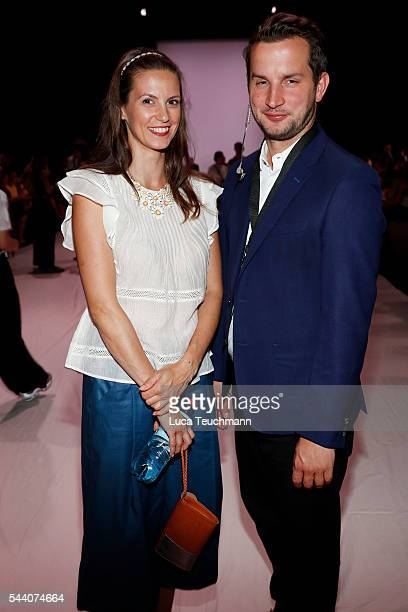 Katrin Wrobel and Fabian Winkelsesser attend the Julian Zigerli show during the MercedesBenz Fashion Week Berlin Spring/Summer 2017 at Erika Hess...