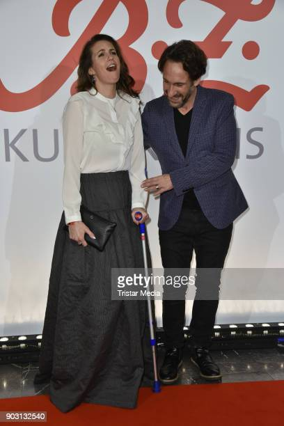 Katrin Wrobel and Falk WillyWild attend the BZ Kulturpreis 2018 at Staatsoper im Schiller Theater on January 9 2018 in Berlin Germany