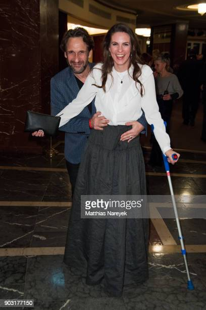 Katrin Wrobel and FalkWilly Wild attend the BZ Kulturpreis 2018 at Staatsoper im Schiller Theater on January 9 2018 in Berlin Germany