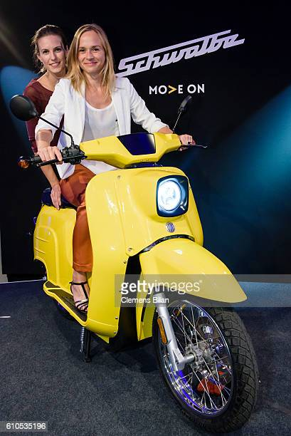 Katrin Wrobel Annett Fleischer attend the GOVECS product launch on September 26 2016 in Berlin Germany