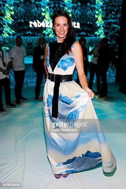 Katrin Wrobel attends the Rebekka Ruetz show during the MercedesBenz Fashion Week Berlin Spring/Summer 2017 at Erika Hess Eisstadion on June 29 2016...
