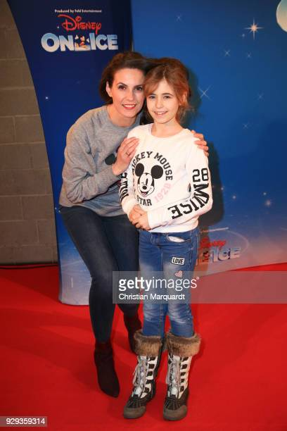 Katrin Wrobel with daughter Julia attend the Disney on Ice premiere 'Fantastische Abenteuer' at Velodrom on March 8 2018 in Berlin Germany