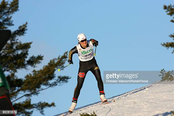 Katrin Zeller of Germany competes in the Women's 10km Cross Country Skiing during day one of the FIS World Cup on November 21 2009 in Beitostoelen...
