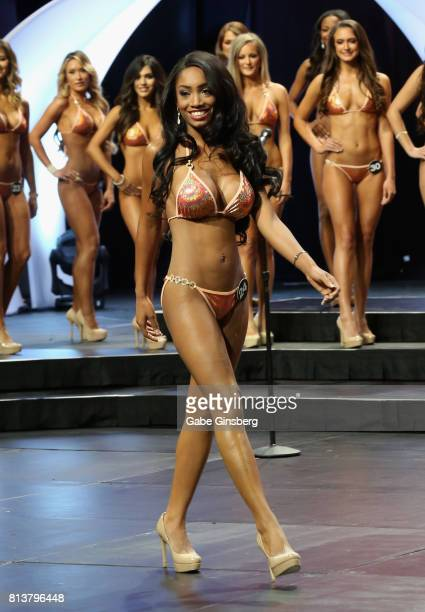 Katrina Aird of Farmingdale New York competes during the 21st annual Hooters International Swimsuit Pageant at The Pearl concert theater at Palms...