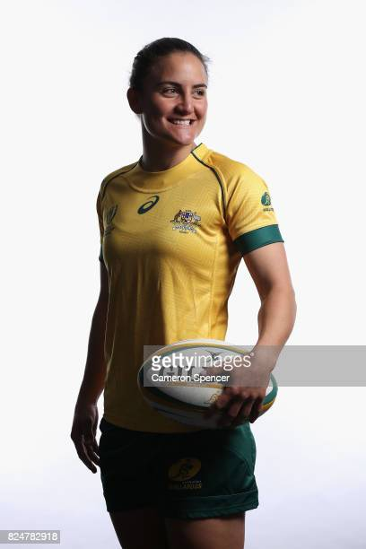 Katrina Barker poses during the Wallaroos World Cup Headshots Session at the Sydney Academy of Sport on July 30 2017 in Sydney Australia