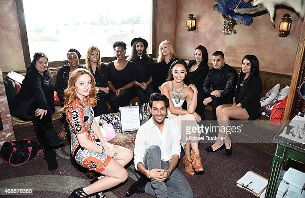 Katrina Barton, Joey Maalouf and Cara Santana attend The Glam App's Glamchella at the Petit Ermitage on April 7, 2015 in Los Angeles, California.