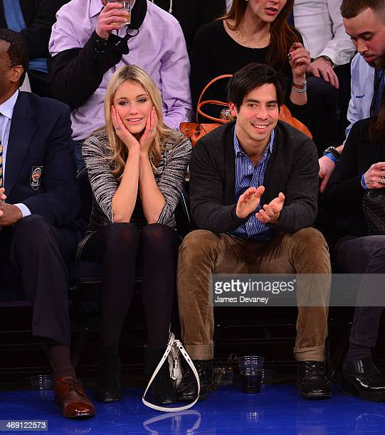 Katrina Bowden and Ben Jorgensen attend the Sacramento Kings vs New York Knicks game at Madison Square Garden on February 12 2014 in New York City