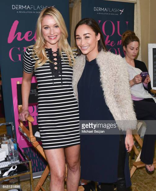 Katrina Bowden and Cara Santana attend The Glam App x DERMAFLASH Host PreOscars Suite at Peninsula Hotel on February 24 2017 in Beverly Hills...