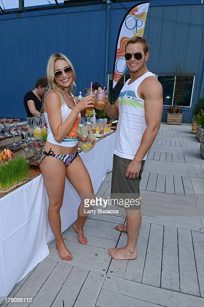 Katrina Bowden and Kellan Lutz host OP's Surf For Life event on July 30 2013 in New York City