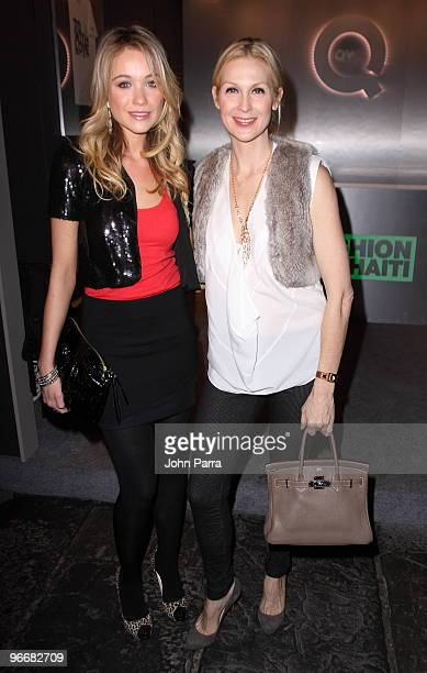 Katrina Bowden and Kelly Rutherford attend the QVC Style Party to Kick Off MercedesBenz Fashion Week in Bryant Park on February 13 2010 in New York...