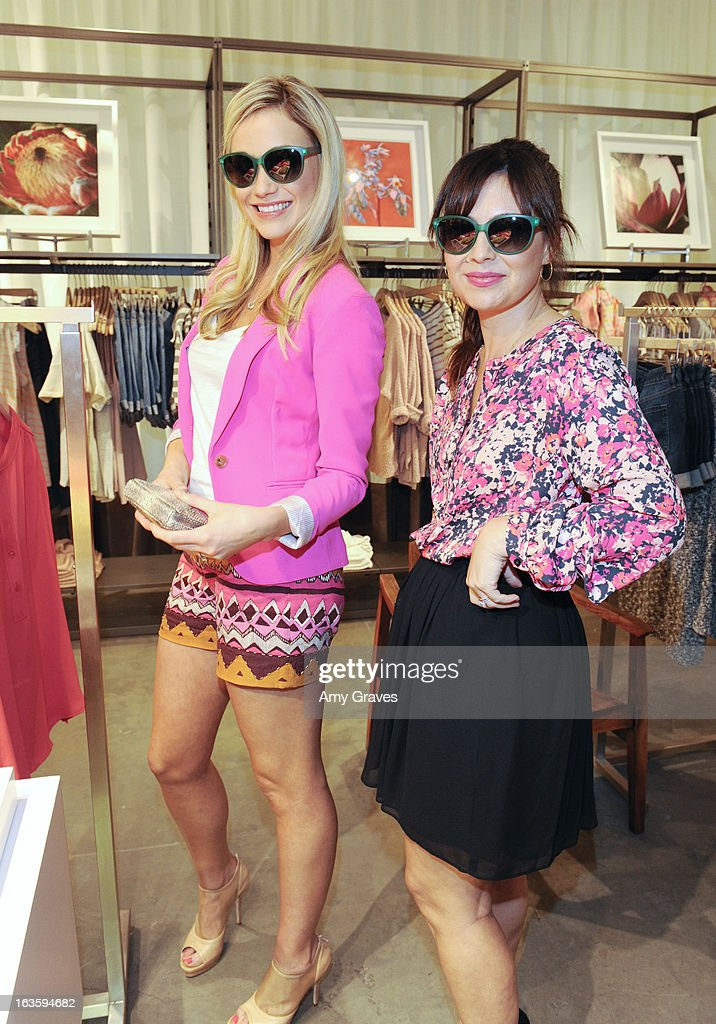 Katrina Bowden and Nicole Chavez attend the LOFT Pop-Up On Robertson event on March 12, 2013 in Los Angeles, California.