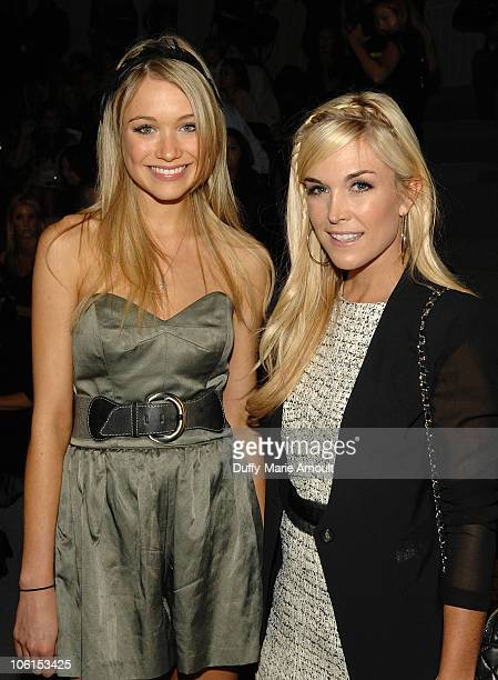 Katrina Bowden and Tinsley Mortimer attend the Milly by Michelle Smith Spring 2011 fashion show during Mercedes-Benz Fashion Week at The Stage at...