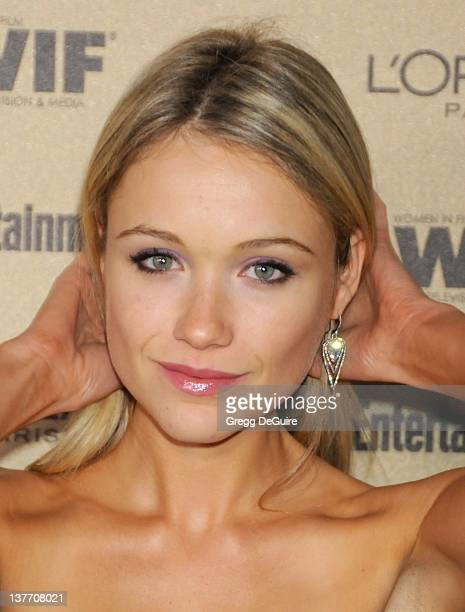 Katrina Bowden arrives at the Entertainment Weekly and Women In Film PreEmmy Party at the Restaurant at the Sunset Marquis Hotel on August 27 2010 in...