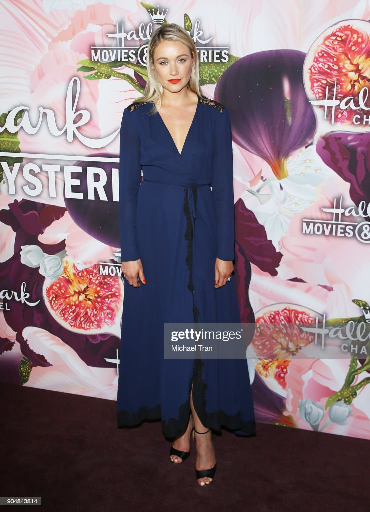Katrina Bowden arrives to the Hallmark Channel and Hallmark Movies and Mysteries Winter 2018 TCA Press Tour held at Tournament House on January 13, 2018 in Pasadena, California.