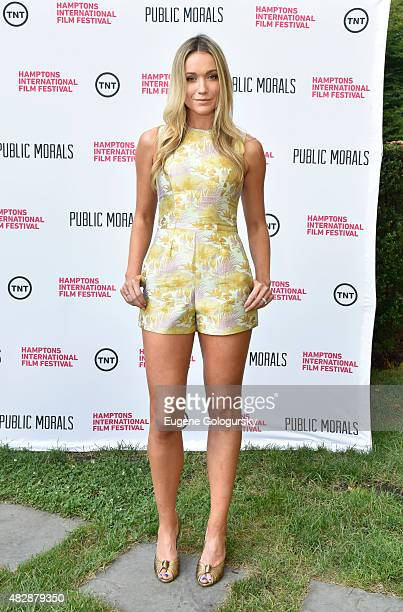 Katrina Bowden attends Public Morals a TNT Original Series screening presented by the Hamptons International Film Festival and TNT at Guild Hall on...
