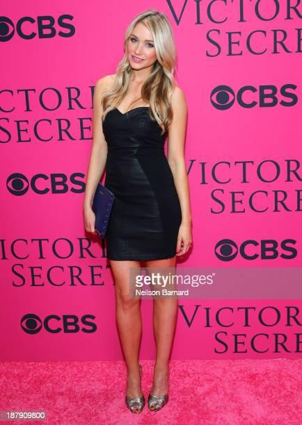 Katrina Bowden attends the 2013 Victoria's Secret Fashion Show at Lexington Avenue Armory on November 13 2013 in New York City