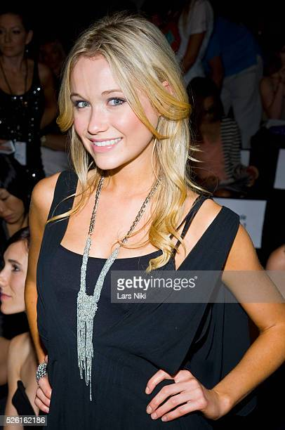 Katrina Bowden attends the Max Azria Spring 2010 fashion show at Bryant Park during New York Mercedes Benz Fashion Week