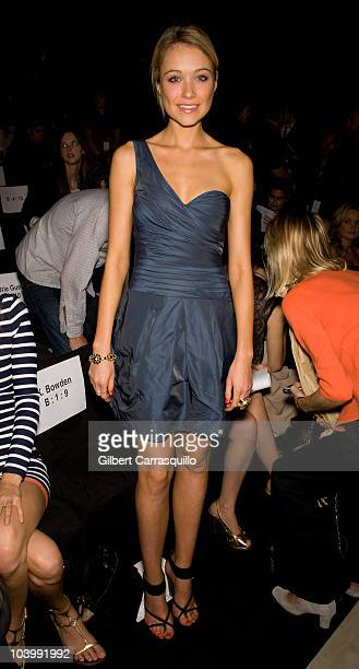 Katrina Bowden during the BCBG Max Azria Spring 2011 fashion show during MercedesBenz Fashion Week at The Theater at Lincoln Center on September 10...