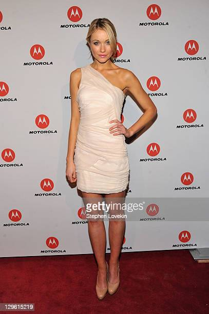 Katrina Bowden joined Motorola Movbility to celebrate the launch of two revolutionary new products DROID RAZR by Motorola the world's fastest...