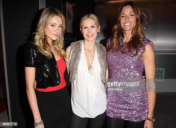 Katrina Bowden Kelly Rutherford and Kelly Bensimon attend the QVC Style Party to Kick Off MercedesBenz Fashion Week in Bryant Park on February 13...