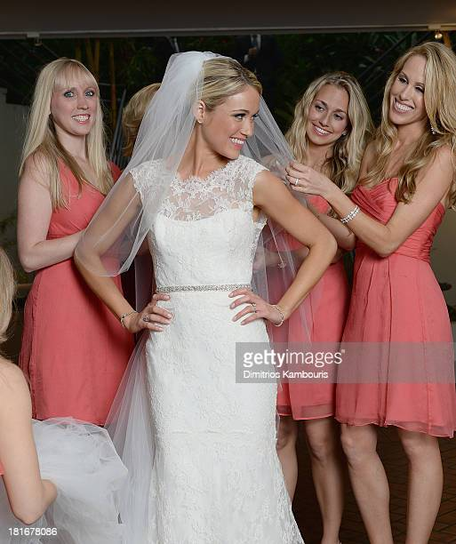 Katrina Bowden seen during her wedding at the Brooklyn Botanic Garden May 19 2013 in the Brooklyn borough of New York City