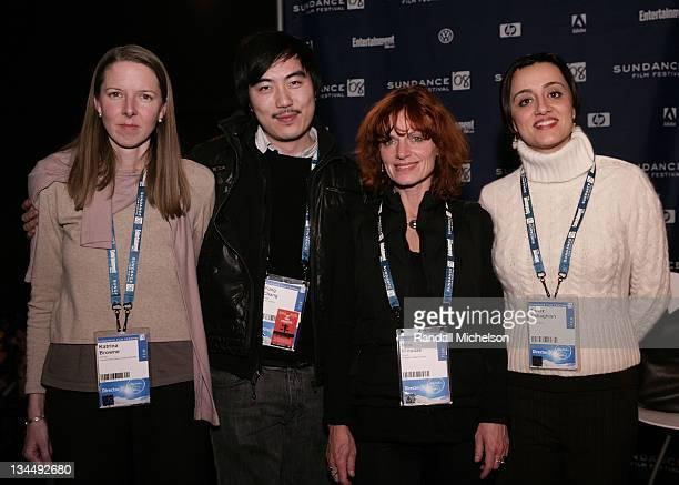 Katrina Brown, Yung Chang, Nino Kirtadze, Tanaz Eshaghian attend the PBS Reception at the Sundance House during the 2008 Sundance Film Festival on...
