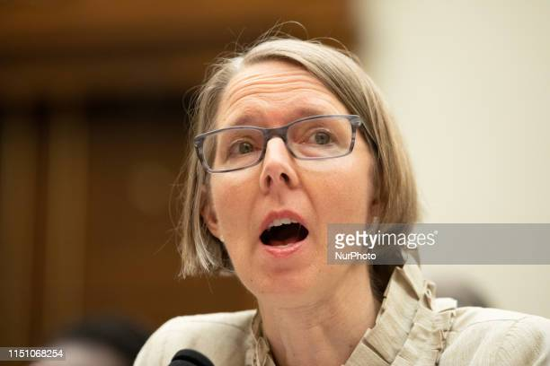 Katrina Browne, Documentarian, Traces of the Trade, testifies about reparations for the descendants of slaves during a hearing before the House...