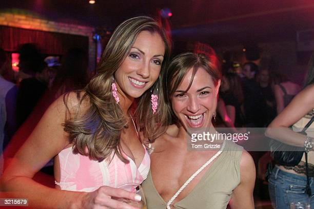 Katrina Campins and Ereka Vetrini party at the 'You're Fired' Party on April 3 2004 at the Mansion nightclub in Miami Florida