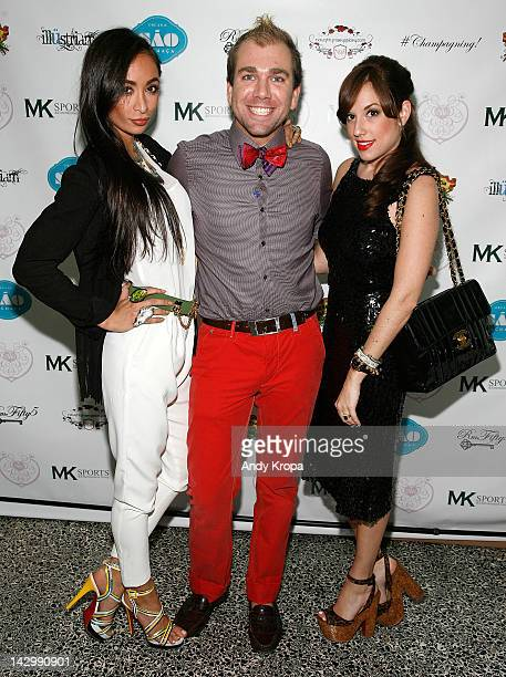 Katrina Caro Andrew Sullivan and Nicole Rose Stillings attend the Eden's World premiere party at Room Fifty5 at Dream Midtown on April 16 2012 in New...