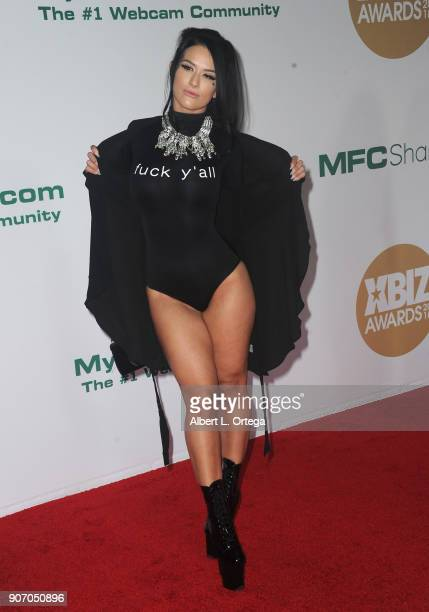 Katrina Jade arrives for the 2018 XBIZ Awards held at JW Marriot at LA Live on January 18 2018 in Los Angeles California