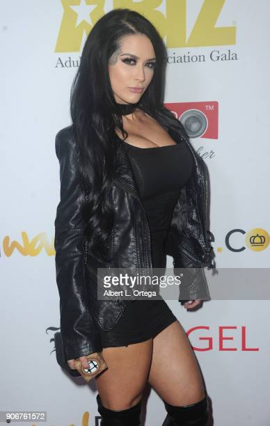 Katrina Jade arrives for XBiz's RISE Performer Appreciation Event held at 1 Oak on November 15 2017 in West Hollywood California